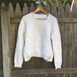 ANTHROPOLOGIE 'Moth' Embossed Zipper Sweater